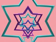 Рамка металлическое 3d формы звезды представляет иллюстрация вектора