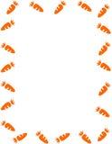 рамка моркови Иллюстрация вектора