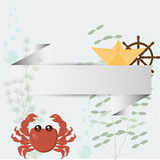 Рамка моря бумажная Стоковая Фотография RF