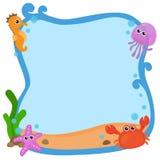 Рамка моря иллюстрация вектора