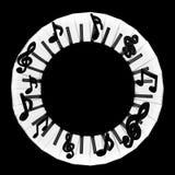Рамка музыки круглая Стоковая Фотография