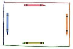 рамка нарисованная crayon Стоковая Фотография RF