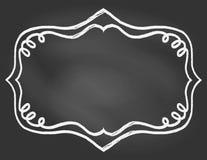 Рамка на borard мелка Стоковые Фотографии RF