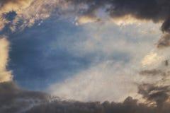 Рамка неба и облаков Стоковые Изображения
