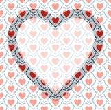 Рамка дня валентинки на предпосылке картины Стоковое Изображение RF