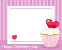 Рамка дня валентинки s горизонтальная Стоковое Изображение RF