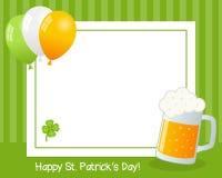 Рамка дня St. Patrick s горизонтальная Стоковое фото RF