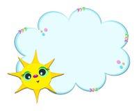 рамка облака солнечная Стоковая Фотография