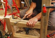 рамка опиловки стула деревянная Стоковые Фотографии RF