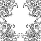Рамка орнамента вектора цветка Стоковые Фото