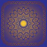 Рамка орнамента Солнця Стоковая Фотография RF