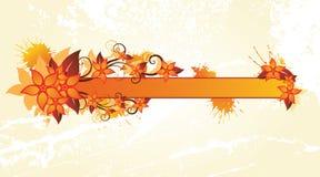 рамка осени флористическая Стоковое Изображение RF