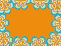 Рамка от картины цветка Стоковое Изображение RF