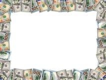 Рамка от долларов изолированных на белизне Стоковое Изображение
