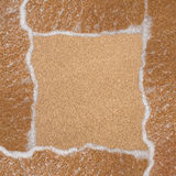 Рамка от песка и волны на пляже Стоковые Изображения RF