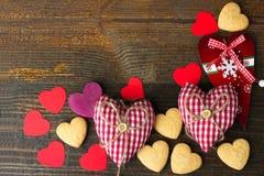 Рамка от разнообразие сердец Стоковое Фото