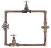 Рамка от труб водопровода Стоковые Изображения