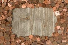 Рамка от центов евро Стоковое Изображение RF