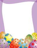 рамка пасхального яйца причудливая Стоковые Фотографии RF