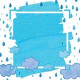 Рамка падения облака голубая бесплатная иллюстрация