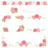 Рамка перлы Rose Стоковые Фото
