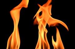 Рамка пожара на черной предпосылке Стоковое фото RF