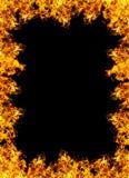 рамка пожара предпосылки черная Стоковое Фото