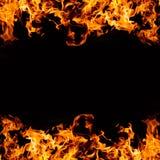 рамка пожара предпосылки черная Стоковые Изображения RF