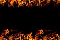 рамка пожара предпосылки черная Стоковое фото RF