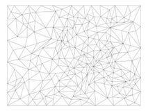 Рамка полигона, треугольники, линии шаблон Элемент вектора изолированный на светлой предпосылке иллюстрация штока
