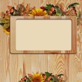 рамка предпосылки осени деревянная Стоковые Изображения RF