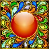Рамка предпосылки круглая сделала ‹â€ ‹â€ из драгоценных камней Стоковая Фотография RF