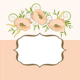 рамка предпосылки флористическая Стоковые Изображения