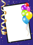 Рамка приглашения партии иллюстрация вектора