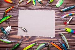 Рамка прикормов рыбной ловли Стоковые Изображения RF