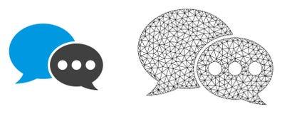 Рамка провода вектора цепляет сообщения форума и плоский значок бесплатная иллюстрация