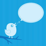 Рамка птицы петь Стоковые Фотографии RF