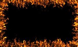 Рамка пламен Стоковые Фото