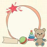 Рамка плюшевого медвежонка Стоковые Изображения RF