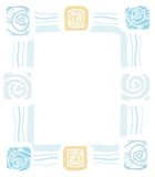 Рамка раковин моря, наяд, цвета, плоского Иллюстрация штока