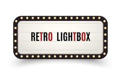 Рамка ретро афиши lightbox винтажная Винтажная коробка света знамени Кино или украшение шильдика шоу рекламируют бесплатная иллюстрация