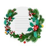 Рамка рождества декоративная круглая Шаблон списка целей Стоковое Фото