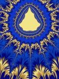 Рамка рождества желтая голубая Форма рождественской елки праздник Стоковое Фото