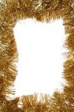 рамка рождества золотистая Стоковые Фотографии RF
