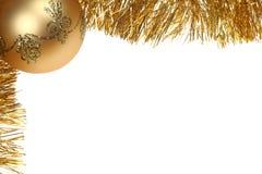 рамка рождества золотистая Стоковое фото RF