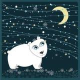 рамка рождества медведя приполюсная Стоковые Изображения