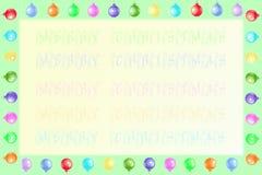 рамка рождества предпосылки Стоковое Фото