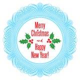 Рамка рождества вектора кружевная Стоковые Фото