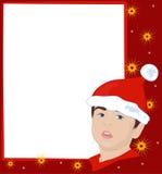 Рамка рождества с гномом Стоковые Изображения