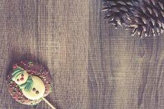 Рамка рождества с диаграммами шоколада Стоковое Изображение